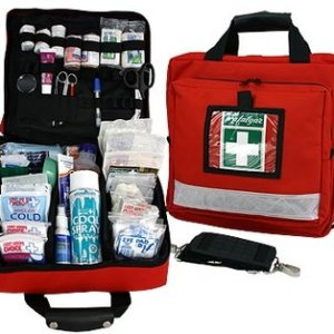 First Aid Kits and supplies.