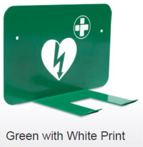 Green AED Wall Storage Bracket