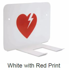 White AED Wall Storage Bracket