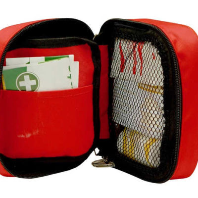 Travel First Aid Kit open